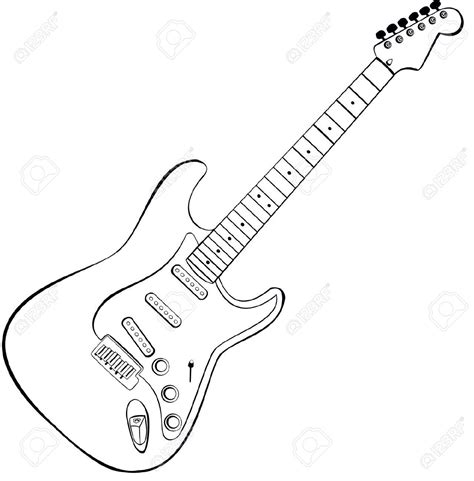 electric guitar drawings cerca con google pinteres
