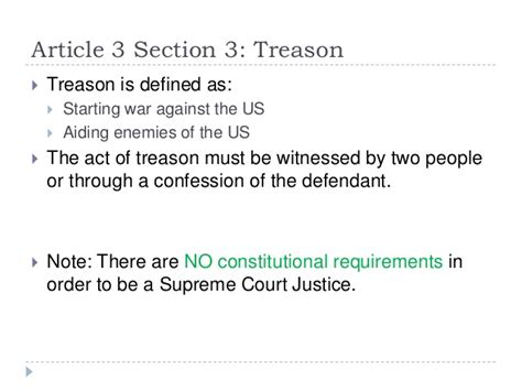 article 3 section 3 of the constitution us constitution in detail
