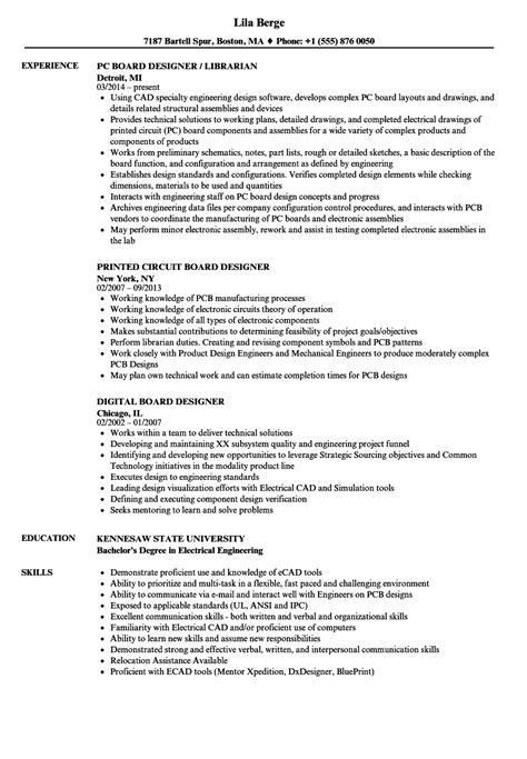 pcb design jobs monster board designer resume sles velvet jobs