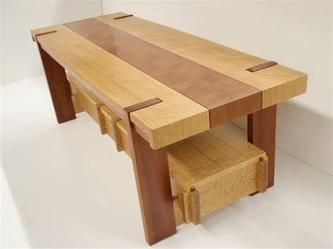 cofee table in white oak and unknown secies with inlays we dc