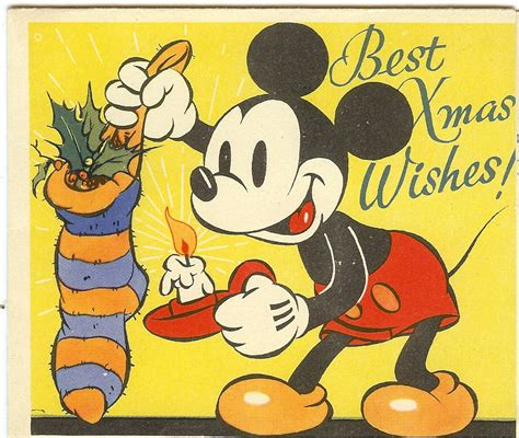 victorian wwi mickey mouse merry christmas   reynardcollectables