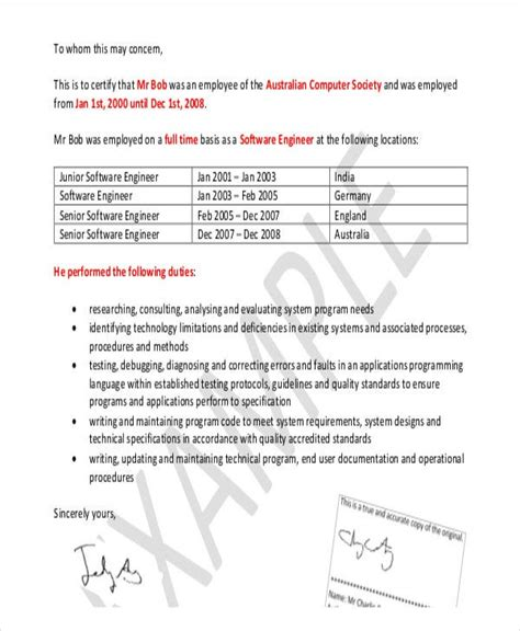 formal reference letter templates word