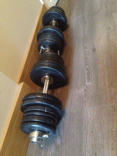 Dumbell Set 50 Kg 50kg olympic dumbell set for sale in clondalkin dublin from millmill