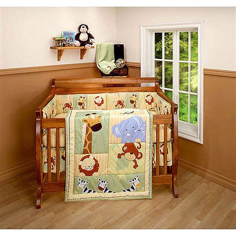 baby safari crib bedding bedding by nojo safari 3pc crib bedding set