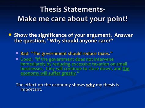 make me a thesis thesis statements