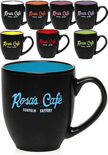 Mug Sendok Two Tone Cetak custom 16 oz hilo bistro two tone ceramic mugs 5003 discountmugs
