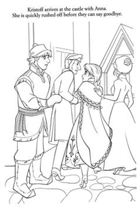 arendelle castle coloring page kristoff and sven are going to arendelle to sell ice at