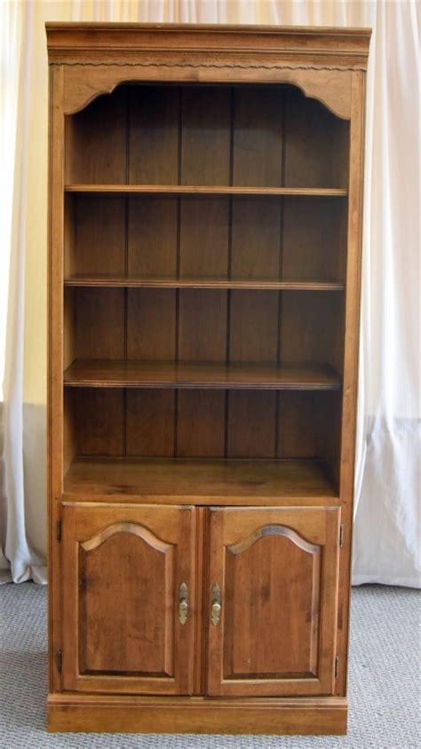 ethan allen bookcase storage unit