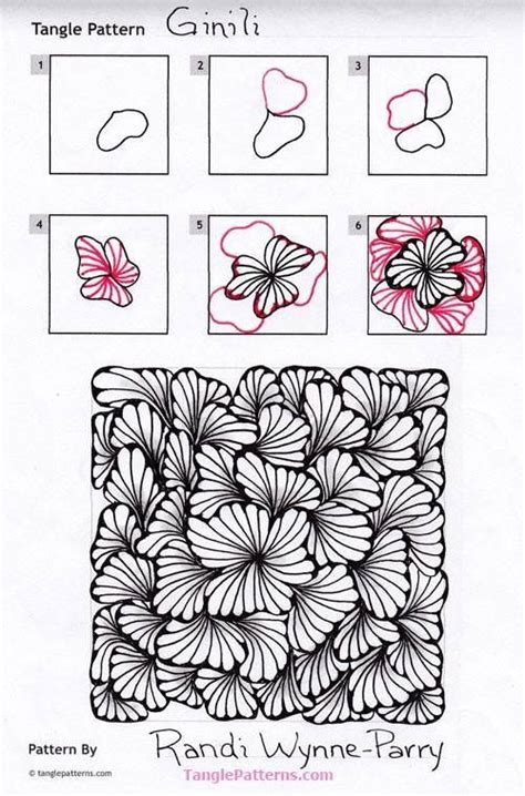 how to do doodle patterns ginili pattern by randi wynne parry zentangle patterns