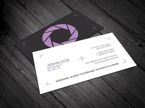 photography business card template psd file free
