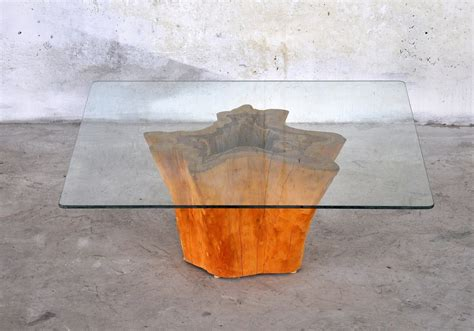 ui pattern tree table glass top tree stump side table home decorations how