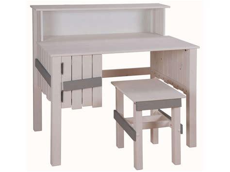 amazone bureau bureau bicolore tabouret amazone coloris blanc et gris