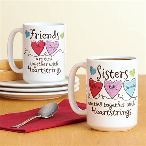 Unique Birthday Gifts For Friends by And Friends Heartstrings Mug