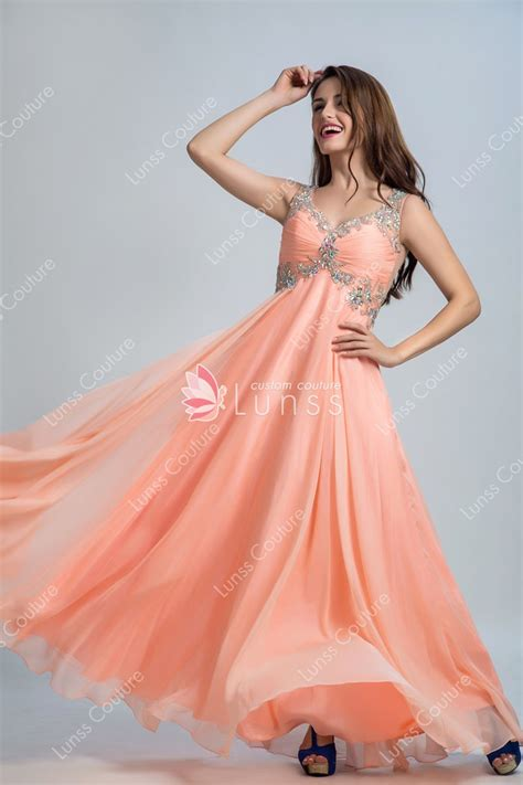 colorful prom dresses colorful crystals beaded v neck empire special occasion