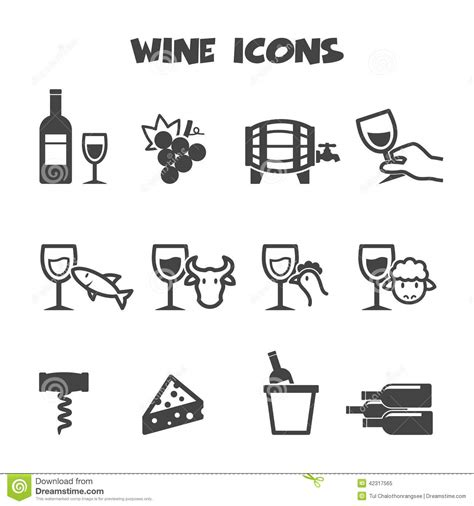 How To Read A Floor Plan Symbols by Wine Icons Stock Vector Image 42317565