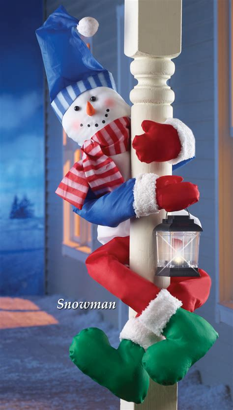 how to make a snowman tree hugger snowman railing porch post or tree hugger home decoration new ebay