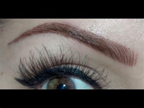 eyebrow tattoo in leeds eyebrow tattoo before after youtube