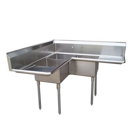 3 Compartment Kitchen Sink Turbo Air Tsa 3c D1 Corner Type Three Compartment Sink W Etundra