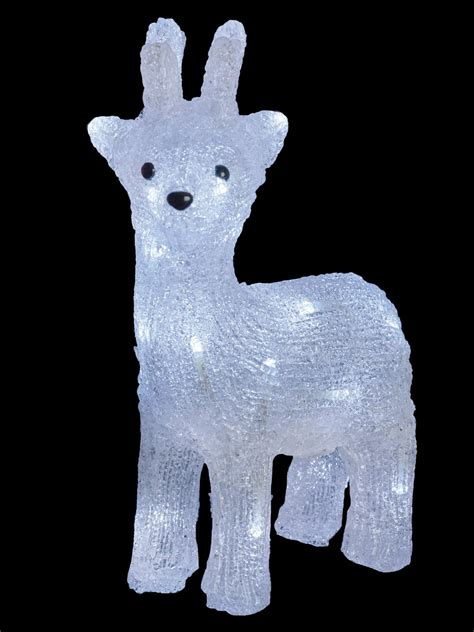 light up reindeer indoor light up reindeer acrylic crystal effect christmas