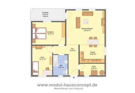 bungalow 100 m2 modul hausconcept bungalows