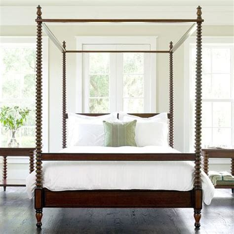 bed with posts beacon hill spool canopy bed traditional canopy beds