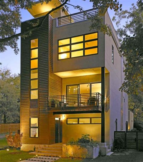 small three story house small lot area modern homes peg pinterest modern