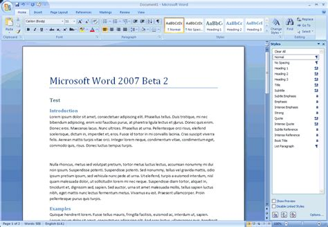 Word Office 2007 Information Technology Microsoft Office Word 2007