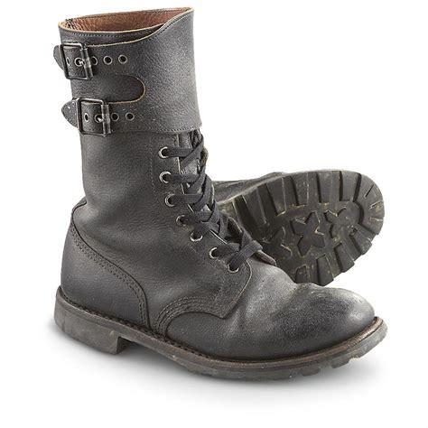 used combat boots black 216761 combat