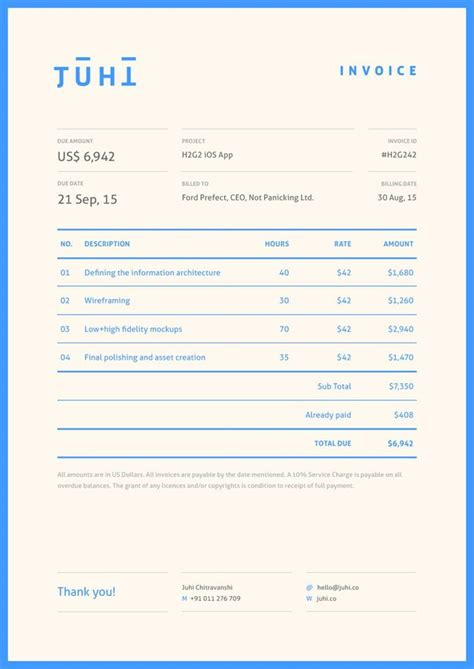invoice template for designers 17 best ideas about invoice design on invoice