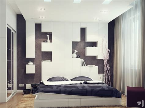 White And Black Headboard by Black White Bedroom Storage Headboard Interior Design Ideas