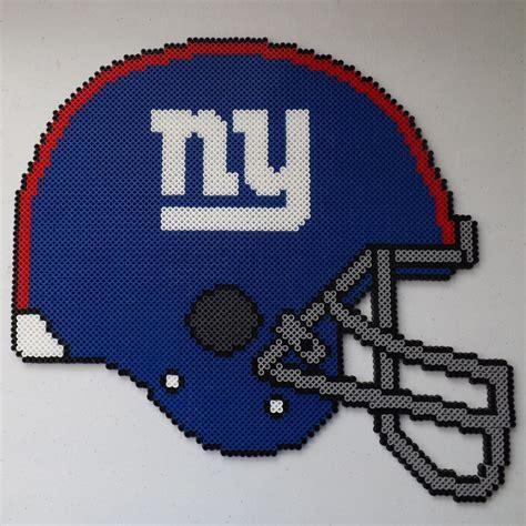 football perler ny giants football helmet perler bead by kamikazekeeg