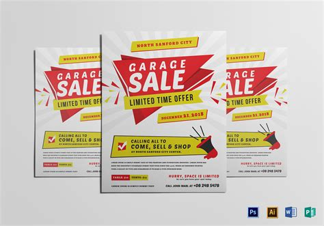 Modern Yard Sale Flyer Design Template In Word Psd Publisher Illustrator Caign Flyer Template Word