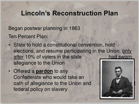 abraham lincoln 10 plan lesson1 ppt reconstruction