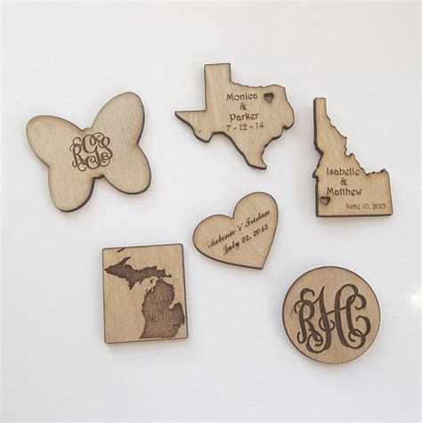 woodworking magnets personalized wood magnets weddings favors save