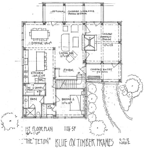 the teton timber frame home floor plan blue ox timber