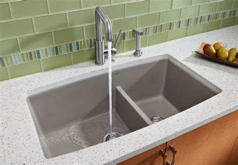 kitchen sink 10 inch depth blanco 441312 33 inch undermount bowl granite sink