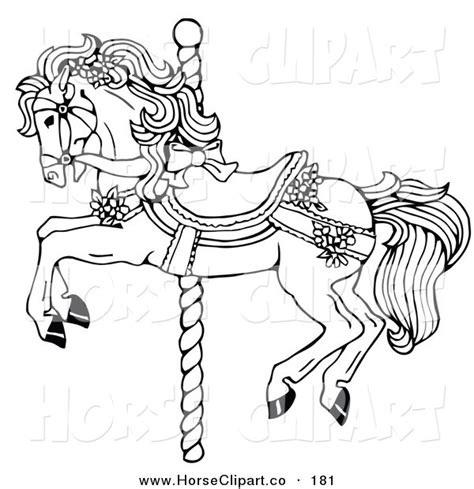 merry go round coloring page www imgkid com the image
