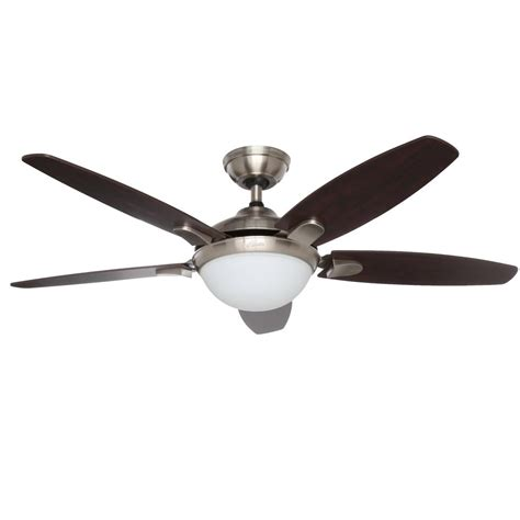 universal remote for hunter ceiling fan and light hunter contempo 52 in indoor brushed nickel ceiling fan