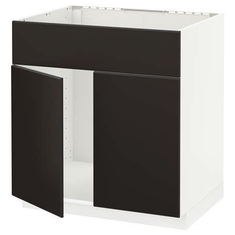 metod base cabinet f sink w 2 doors front black kallarp light green 80x60 cm ikea metod base cabinet f sink w 2 doors front white kungsbacka