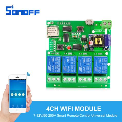 sonoff 4ch wireless switch home automation modules smart