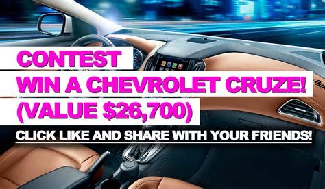 chevrolet contest contest win a chevrolet cruze value 26 700