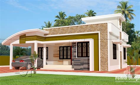Home Design 1000 Sq Ft Single Floor Home Kerala Home Design