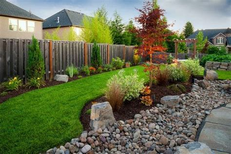 Install pebbles and river stones ? beautiful landscape in