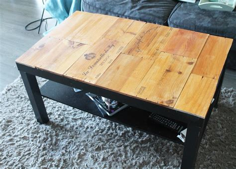 Table Avec Caisse De Vin by Tuto Customiser Une Table Basse Avec Des Caisses De Vin