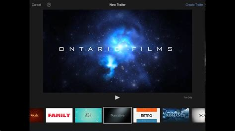 Imovie Trailer Selecting A Template Youtube Imovie Templates Free