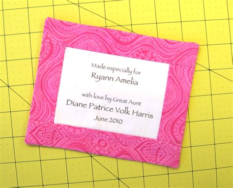How To Make Labels For Quilts by Quotes For Quilt Labels Quotesgram