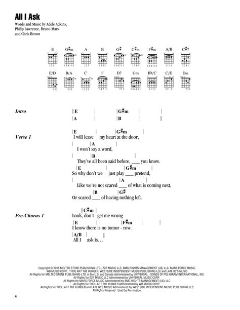 download mp3 adele all i ask free all i ask sheet music by adele lyrics chords 185940