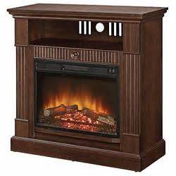 essential home mahogany entertainment fireplace at kmart