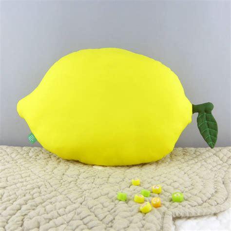 lemon cushion fruit shaped pillow by petit mushyp