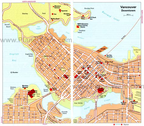 tourist map of canada 15 top tourist attractions in vancouver planetware